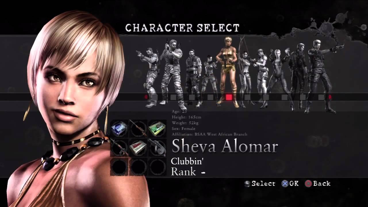 Resident Evil 5 Mercenaries Characters Hd Youtube