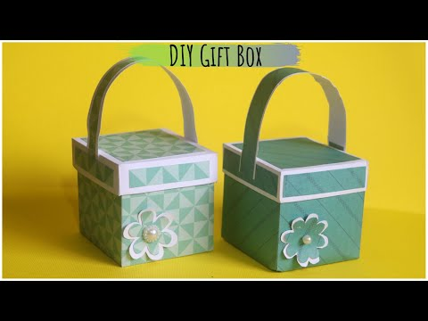How To Make Gift Box with Handle | Paper Gift Box Handmade | DIY Gifts