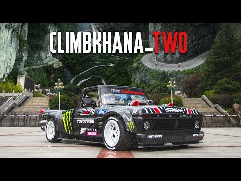 ken-block's-climbkhana-two:-914hp-hoonitruck-on-china's-most-dangerous-road;-tianmen-mountain