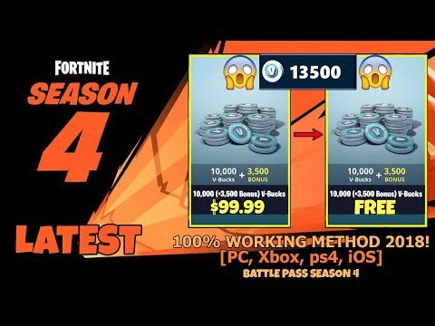 how to get free v bucks in fortnite pc 2018