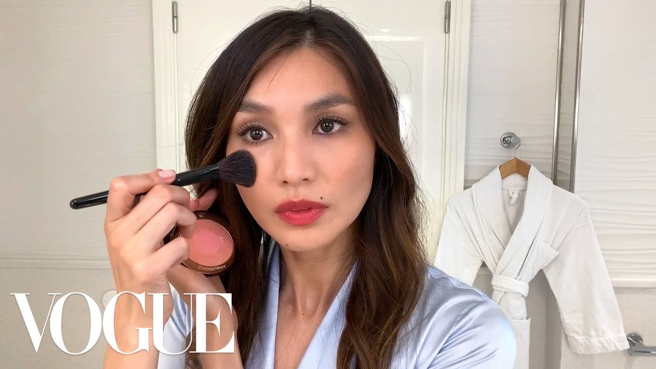 Gemma Chan's Guide to a Simple, Smudge-Proof Red Lip