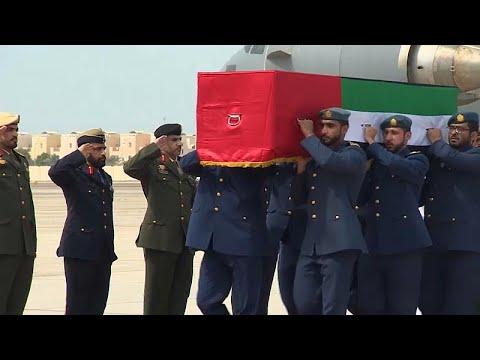 يورو نيوز:الإمارات: استقبال عسكري لجثامين 6 عسكريين ولا تفاصيل عن ظروف مقتلهم…