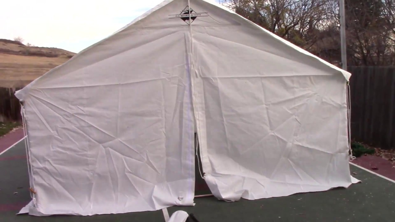 Canvas Tent Review - The Elk Mountain Tents Review and build of the 13 x 16 Wall Tent & Canvas Tent Review - The Elk Mountain Tents Review and build of ...