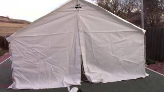 Canvas Tent Review - The Elk Mountain Tents Review and build of the 13 x 16 Wall Tent