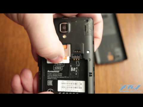 Как вставить SIM-карту в Lenovo A1000 (XDRV.RU)