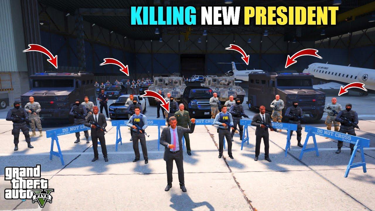 GTA 5 : MICHAEL GANGSTER KILLING LOS SANTOS NEW PRESIDENT || BB GAMING