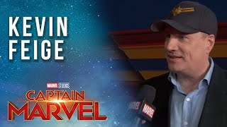 Kevin Feige on Stan Lee and bringing Captain Marvel to the MCU! | Red Carpet Premiere
