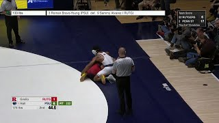 174 LBS: Joseph Grello (Rutgers) vs. #1 Mark Hall (Penn State) | 2020 B1G Wrestling
