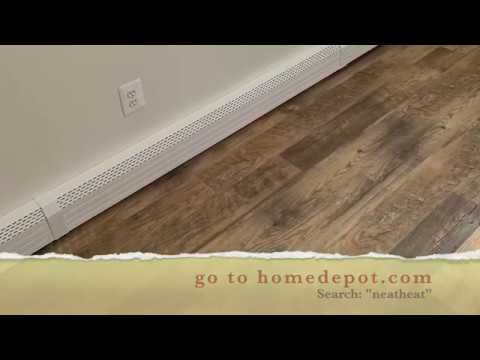 Neatheat Baseboard Cover Review And Installation How To Neat Heat Hot Water Hydronic Heater Covers Youtube