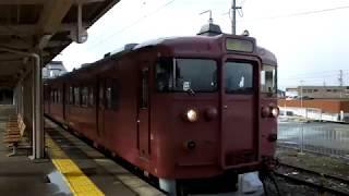 JR西日本415系 普通七尾行き 津幡駅発車