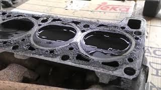 ВАЗ 2106 прогорел клапан, замена.