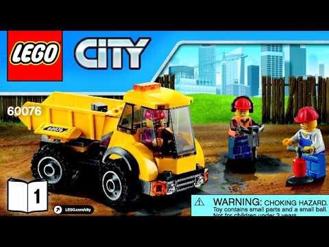 LEGO City Demolition Site 60076 Instructions Book DIY 1