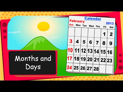 Image result for days and months