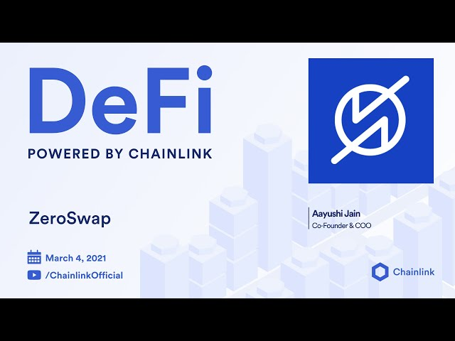 ZeroSwap and Chainlink Live Q&A