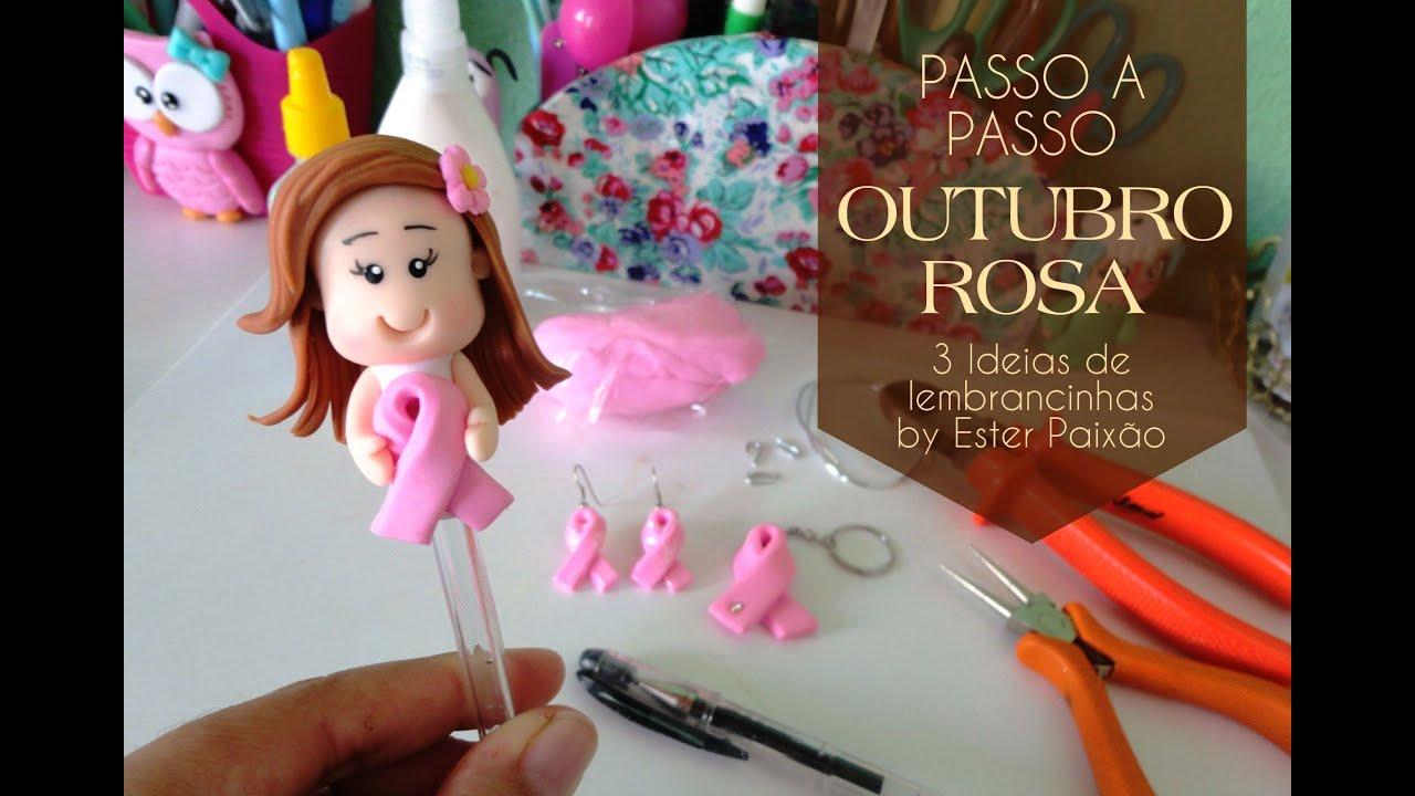 Excepcional Outubro Rosa - 3 ideias de lembrancinhas - YouTube GN89