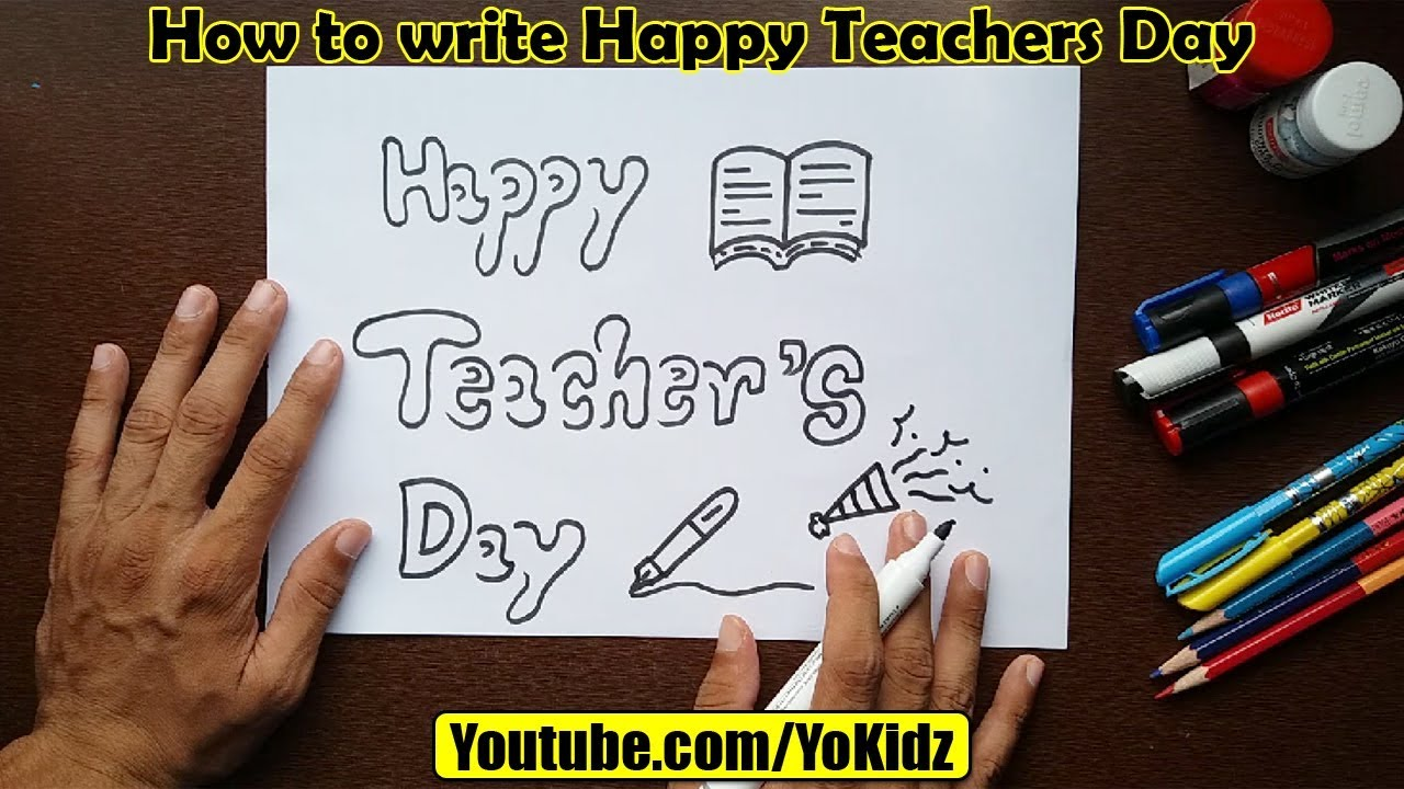 Youtube premium also how to write happy teachers day in style for kids rh