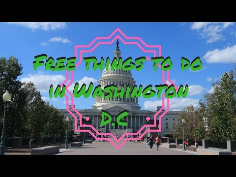 FREE THINGS TO DO IN WASHINGTON D.C | USA TRAVEL VLOG