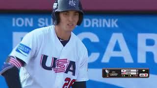Triston Casas (USA) homers in 2017 U-18 Baseball World Cup final