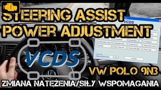 VCDS Steering Assist Power Adjustment - Natężenie / Siła wspomagania VW Polo