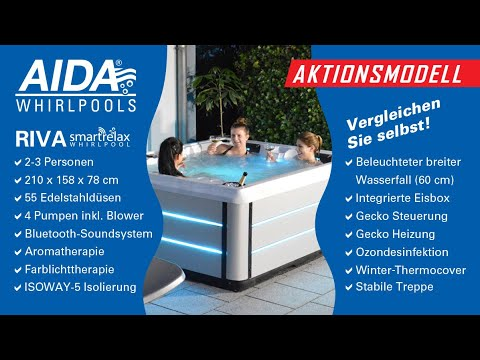 Aktionsmodell AIDA Riva Smartrelax Outdoor Whirlpool