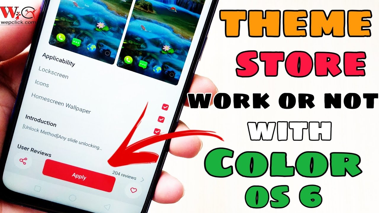 In Color OS 6 Theme Store work or not ? | Apply Theme using