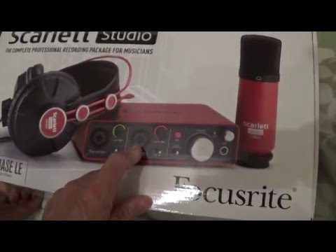 Unboxing a Scarlett Studio Complete professional Recording package