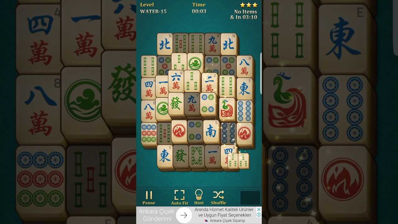 Mahjong solitaire classic water 15