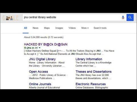 JNU Library Website hacked by Black Dragon