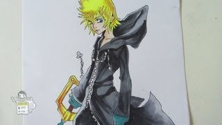 How to draw Roxas from Kingdom Hearts  ロクサス