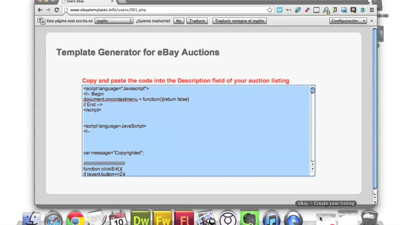 Ebay Auction Templates - Easy to use Ebay Template Generator - YouTube