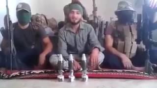 اهداء من الحشد الشعبي الى داعش وابو بكر البغدادي