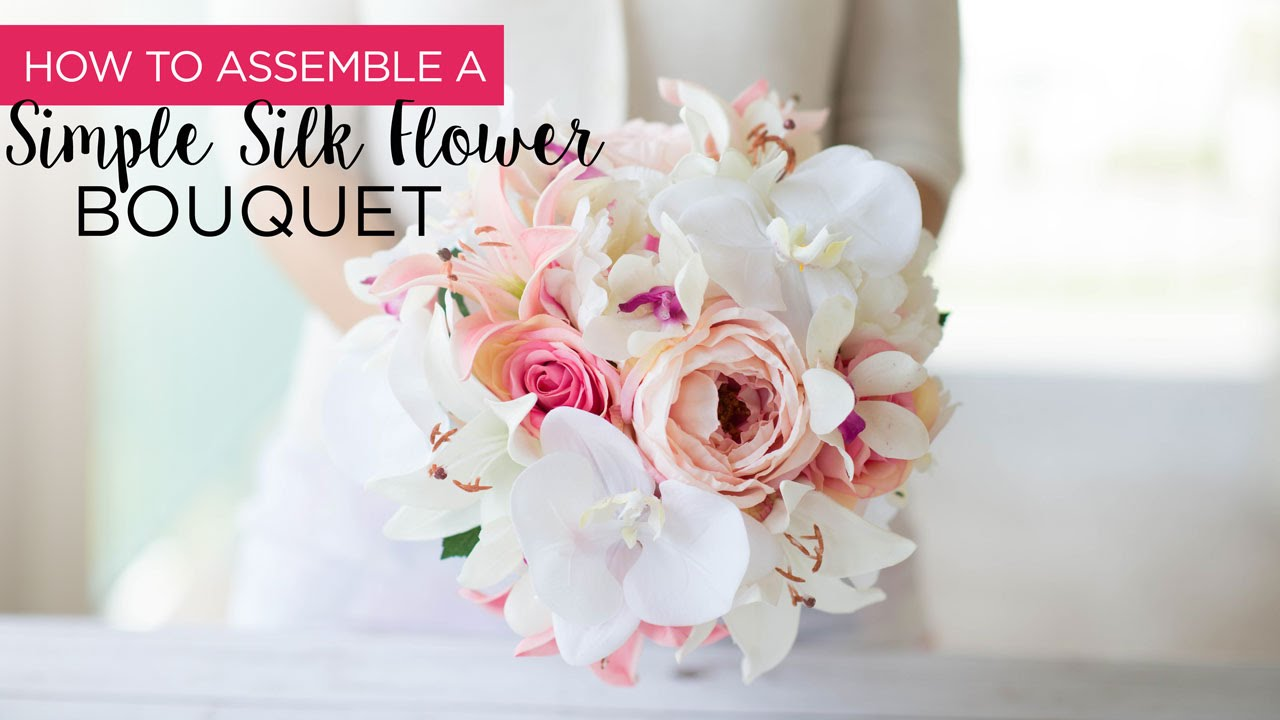 How to assemble a simple silk flower bouquet youtube how to assemble a simple silk flower bouquet izmirmasajfo