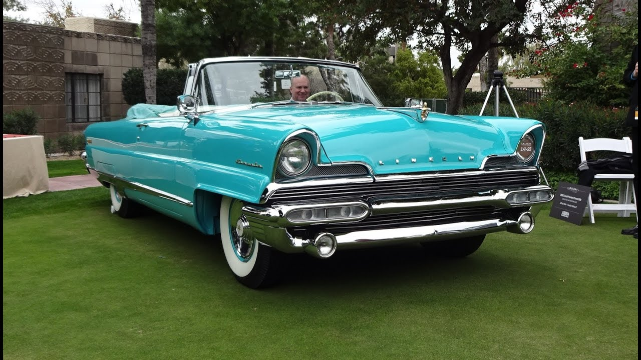 1956 Lincoln Premiere Convertible in Taos Turquoise & Engine Sound ...