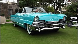 1956 Lincoln Premiere Convertible in Taos Turquoise & Engine Sound - My Car Story with Lou Costabile