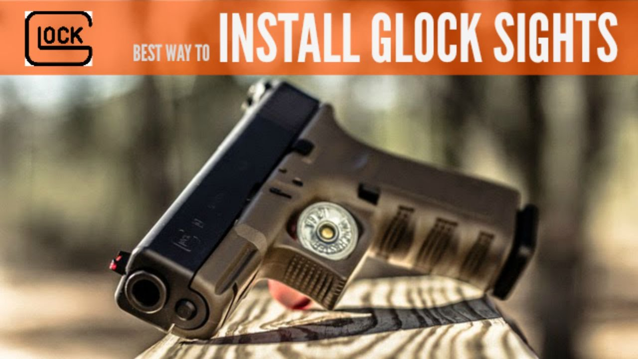 BEST WAY TO INSTALL GLOCK SIGHTS (WITHOUT A SIGHT PUSHER)