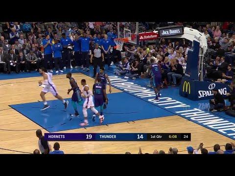 1st Quarter, One Box Video: Oklahoma City Thunder vs. Charlotte Hornets