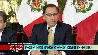 Jefe de Estado preside el VIII Gore Ejecutivo en Palacio de Gobierno
