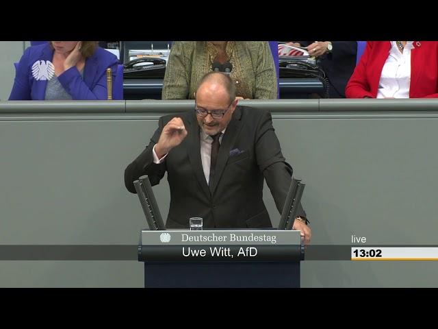 Uwe Witt im Deutschen Bundestag am 26.04.2018