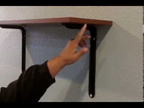 how to hang shelves on drywall that will stay youtube. Black Bedroom Furniture Sets. Home Design Ideas