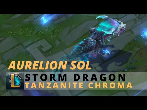 Storm Dragon Aurelion Sol Tanzanite Chroma - League Of Legends