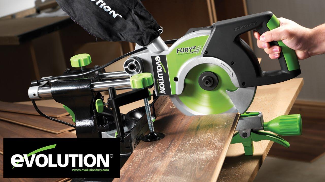 Evolution fury3 210mm multipurpose sliding mitre saw youtube greentooth Choice Image