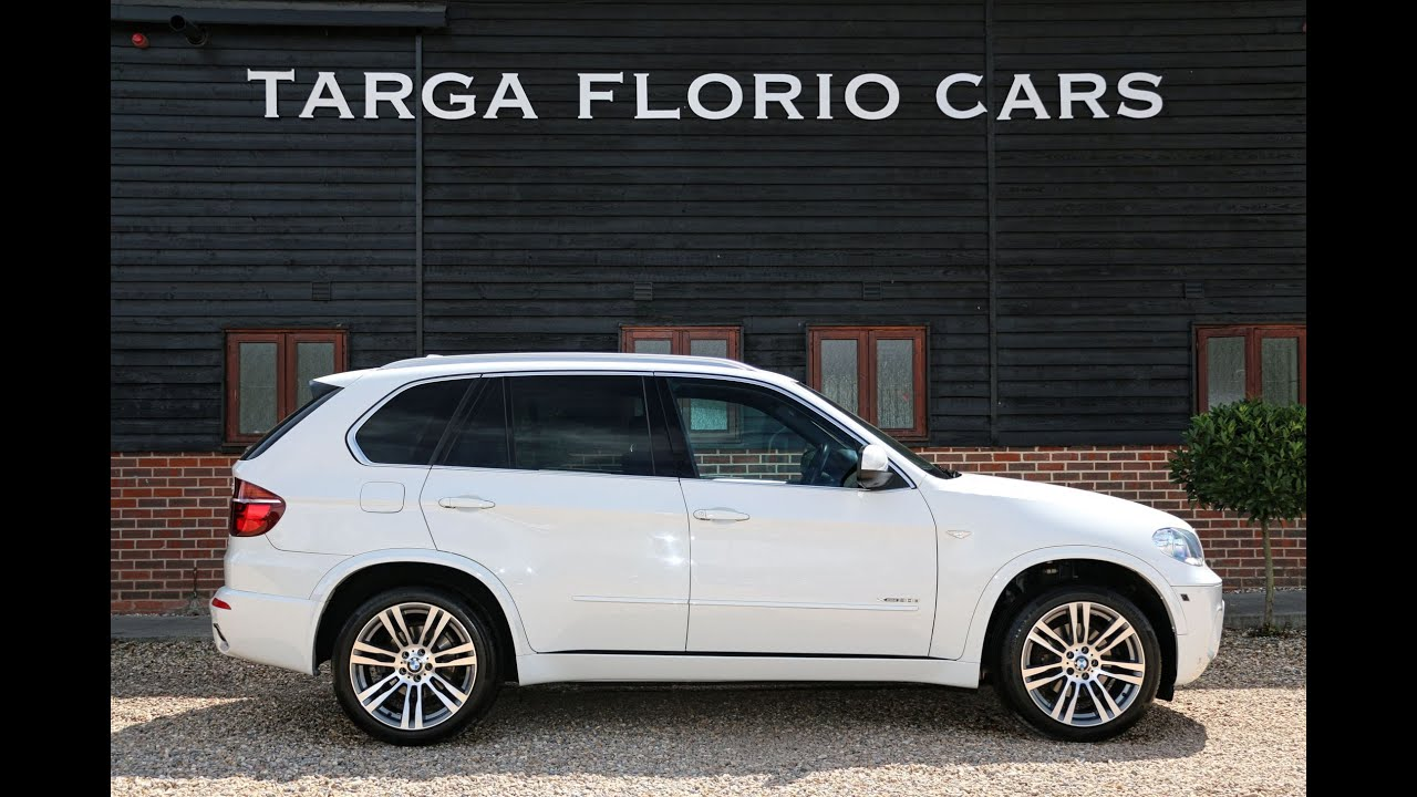 BMW X5 XDrive30D M Sport 7 Seat Automatic in Alpine White with Black