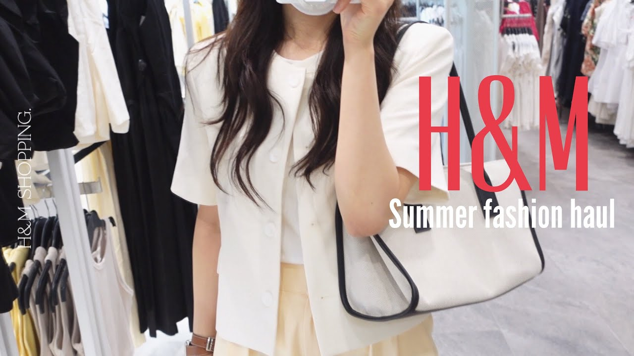 H&M 여름 신상 패션 하울🕶,여름 신상입어보기,여름 데일리룩, 같이 랜선 쇼핑해요!, H&M shopping haul