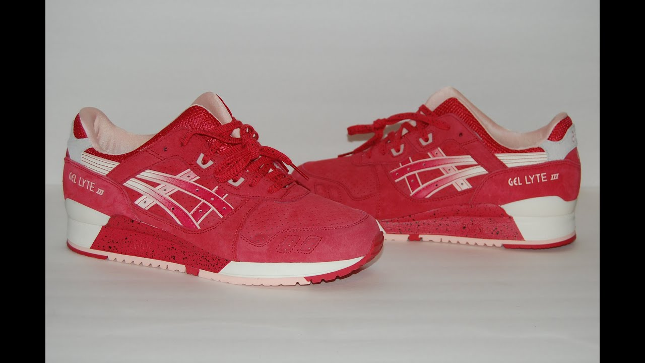 81db2cc33ed5 Asics Gel Lyte III Strawberries   Cream (Valentines Day) - YouTube
