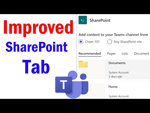 Add a SharePoint page, list, or document library as a tab in Teams | Add SharePoint to Teams Channel