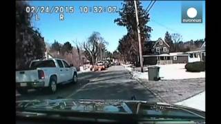 CCTV: Natural gas explosion blasts house to pieces