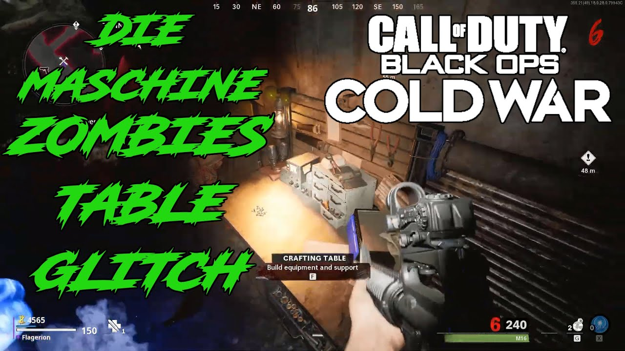 Crafting Table Glitch Spot Call Of Duty Black Ops Cold War Zombies Gameplay Funnymoments Youtube