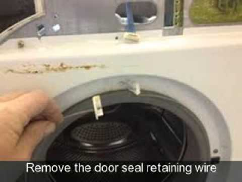 How to change the door seal on a washing machine Hotpoint WMA 60P  YouTube