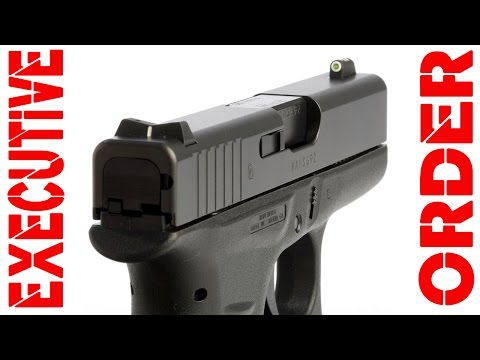 Trump Could Executive Order Glock 42's with Big Dots over SIG P320
