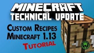 Custom Recipes Tutorial | How to use Tags in recipes (Minecraft 1.13 data packs)